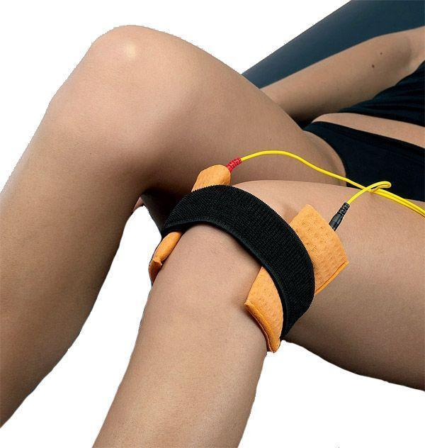 Iontophoresis at the vemrent knee
